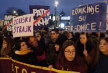International Women's Day protest march in Belgrade