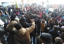 Protest in Serbia against the construction of mini derivative hydropower plants