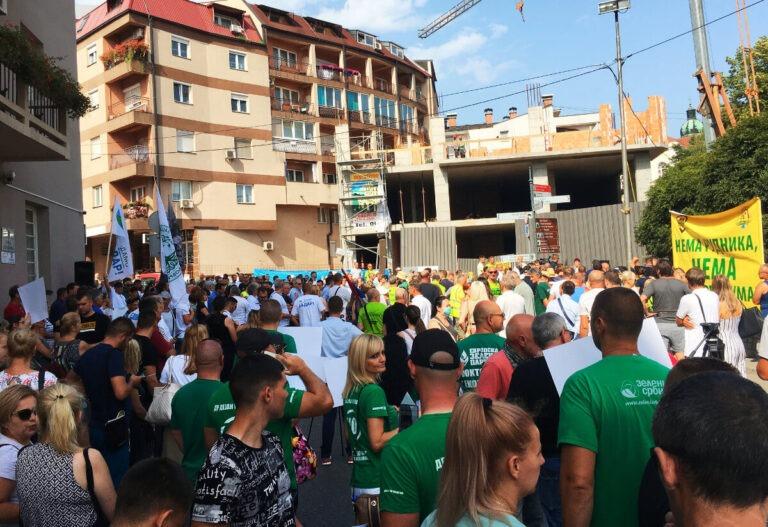 Protest in Loznica