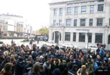 """Post of Serbia workers protest in Novi Sad: """"there is no surrender, we'll be victorious"""""""