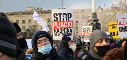 Protest of the Association of Internet Workers in Serbia