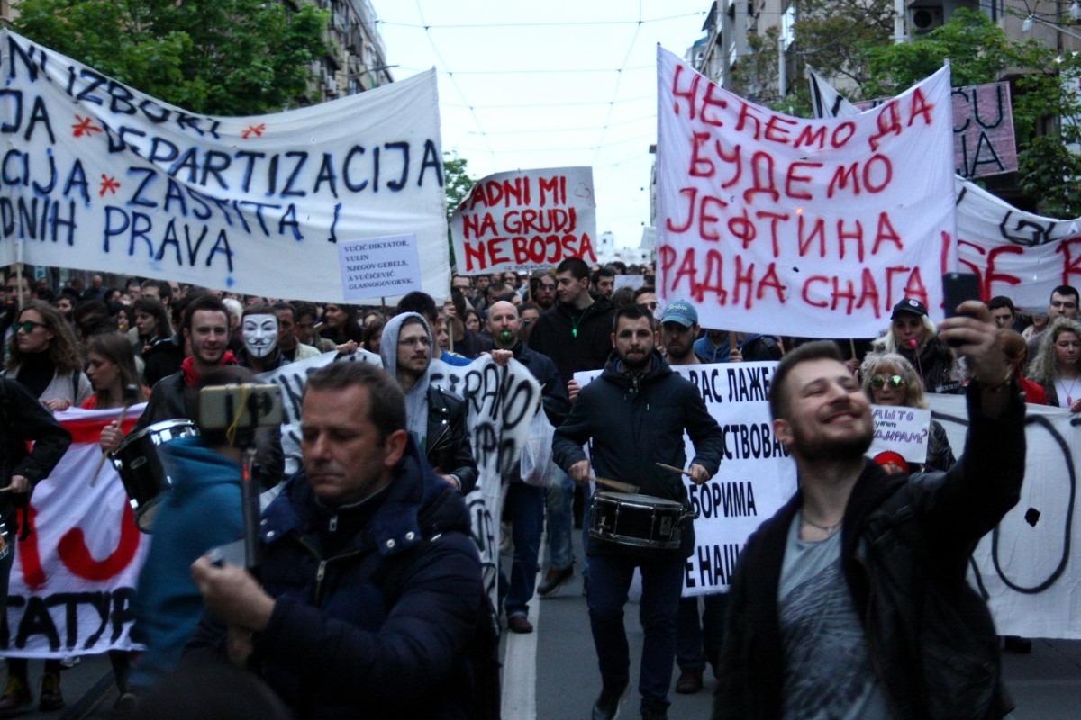 Jedan od Protesta protiv diktature, april 2017. godine; Foto: Marko Miletić