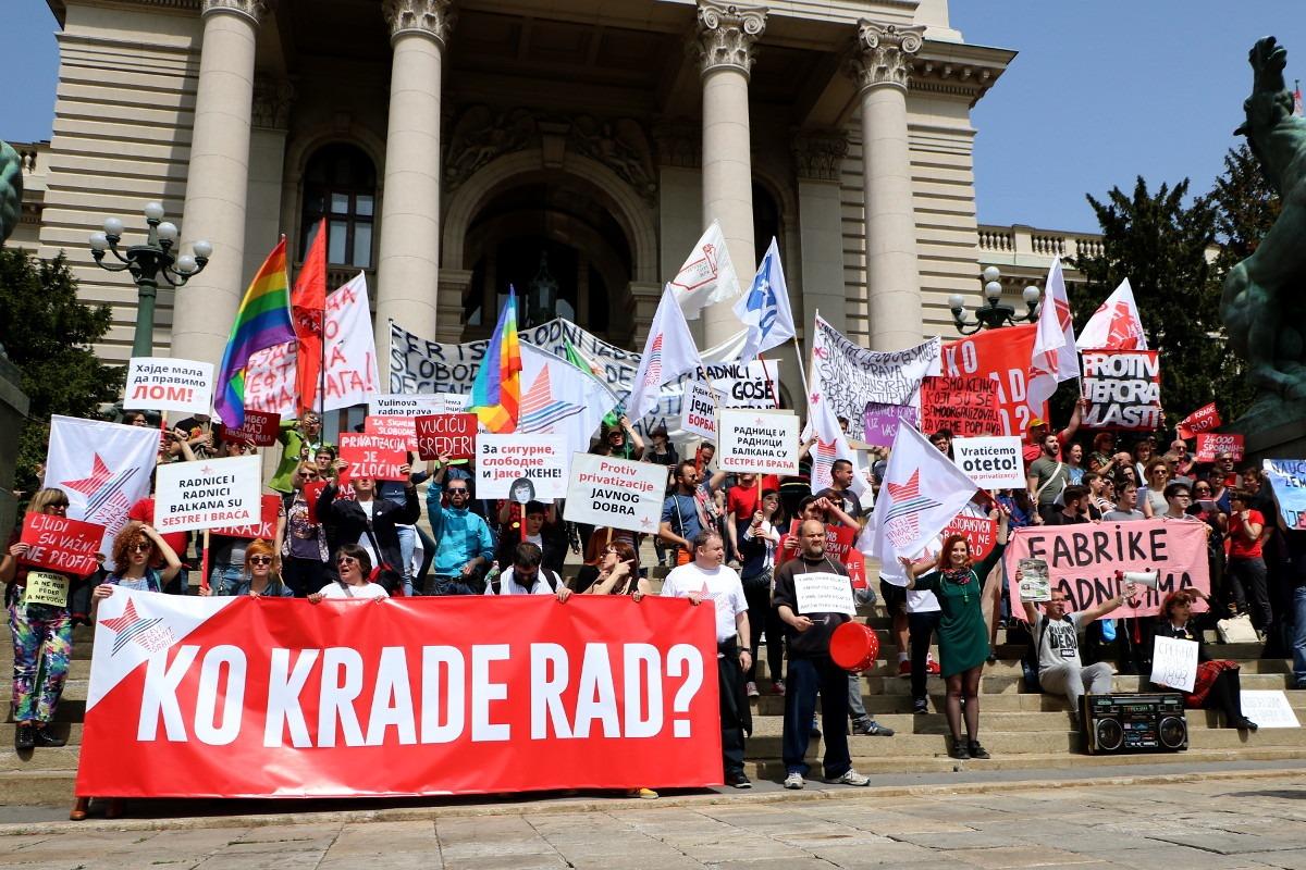 Ko krade rad?, Prvomajski protest; Foto: Ana Vuković