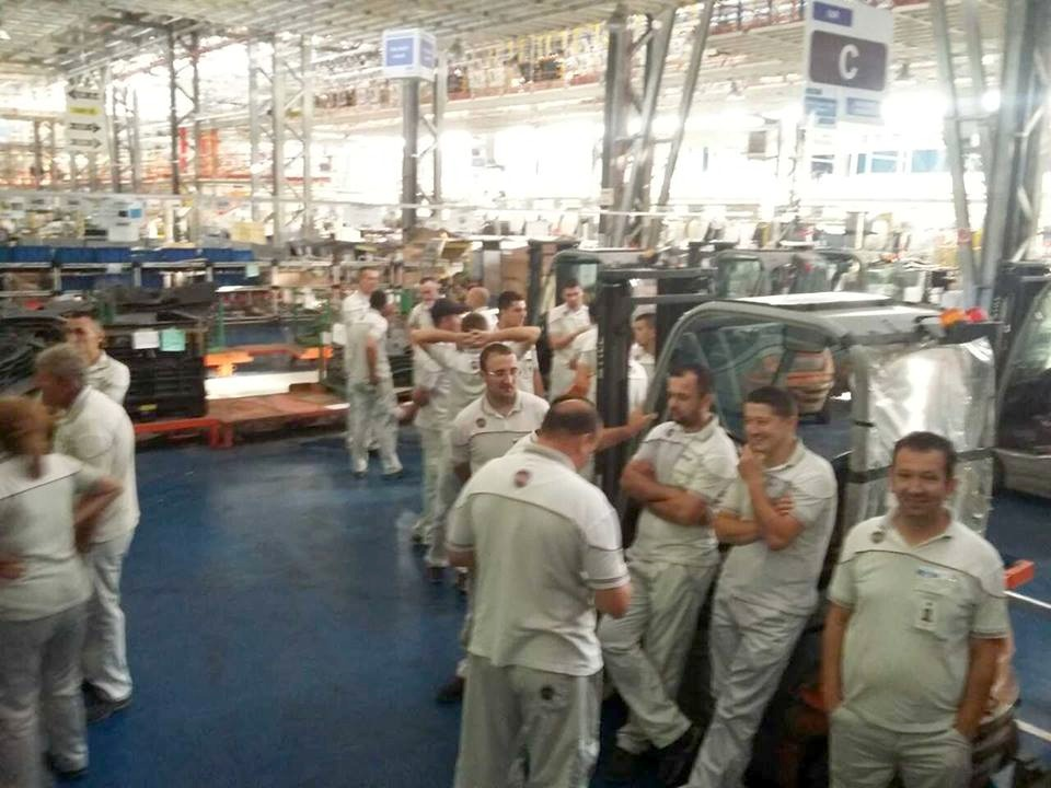 Štrajk radnika Fiata u Kragujevcu