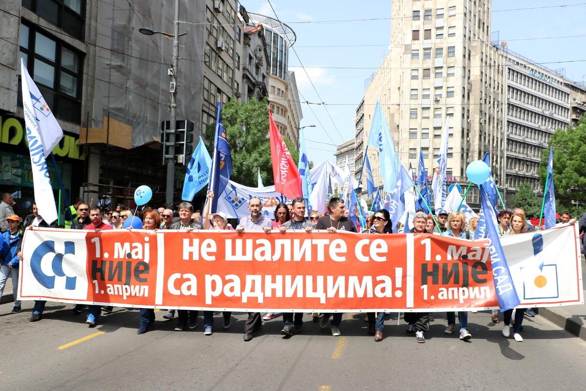 Prvomajski protest 2017; Foto: Ana Vuković / Mašina