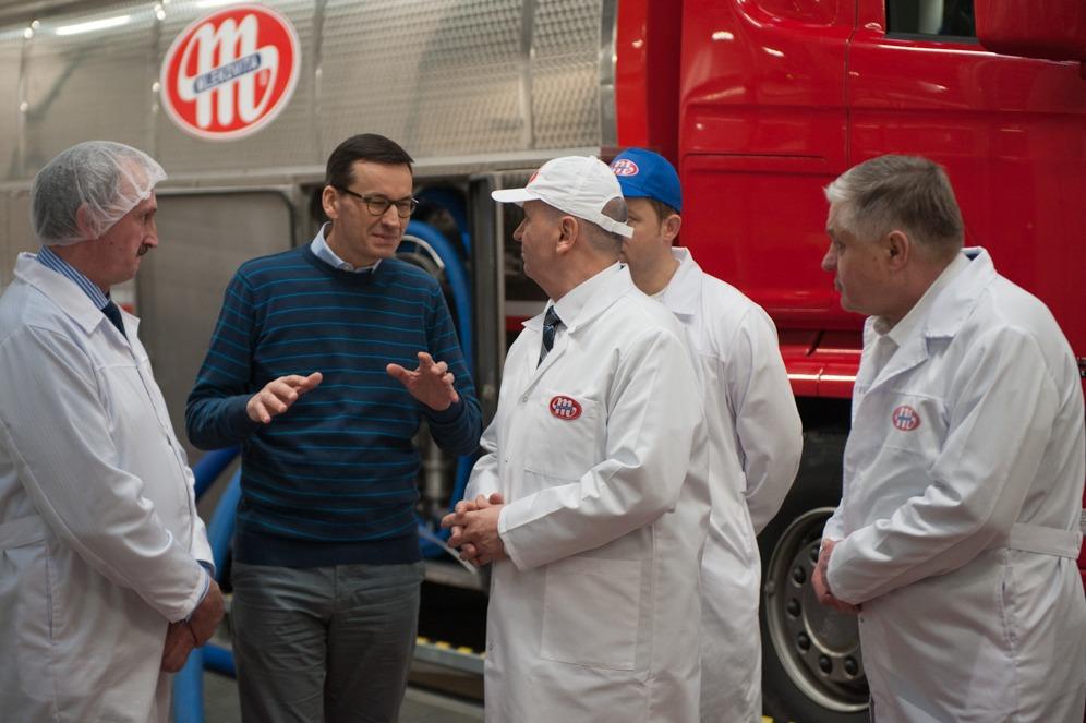 Poseta poljskog premijera kompaniji Mlekovita; Foto: Kancelaria Premiera / Flickr
