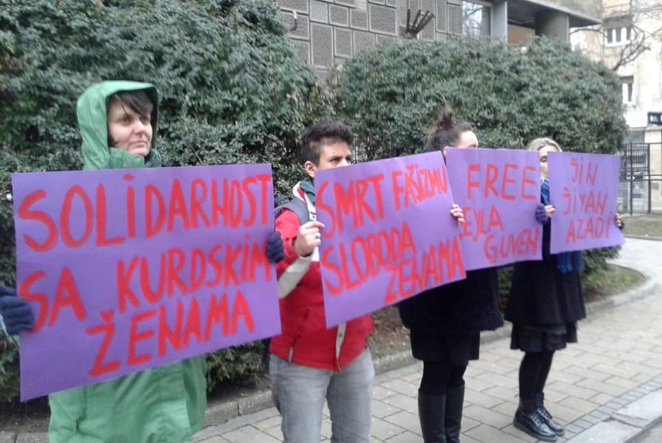 Protest podrške Lejli Guven ispred Turske ambasade u Beogradu