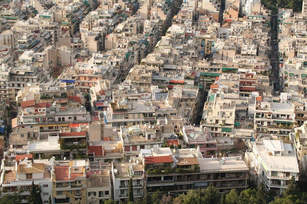 Stambene zgrade u Atini; Foto: Chris Fleming / Flickr