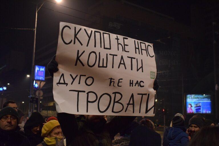 Protest za čist vazduh u Beogradu, 17.01.2020; Foto: Predrag Momčilović / Mašina