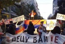 """""""Decu vam ne damo"""", ali ni nasilne očeve? Protest pokreta """"Živim za Srbiju"""""""