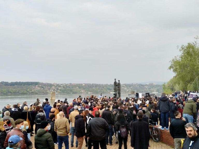 Protest protiv fašizma u Novom Sadu
