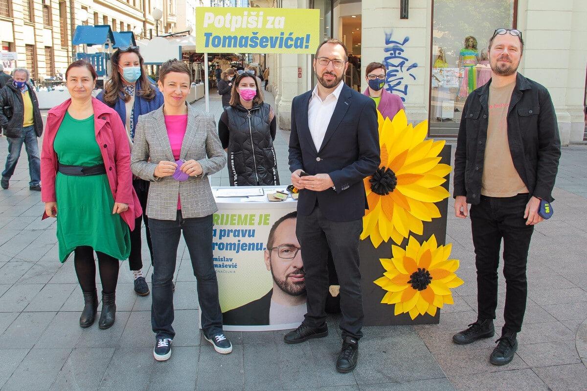 Tomislav Tomašević, kadnidat za gradonačelnika Zagreba izpred platforme Možemo