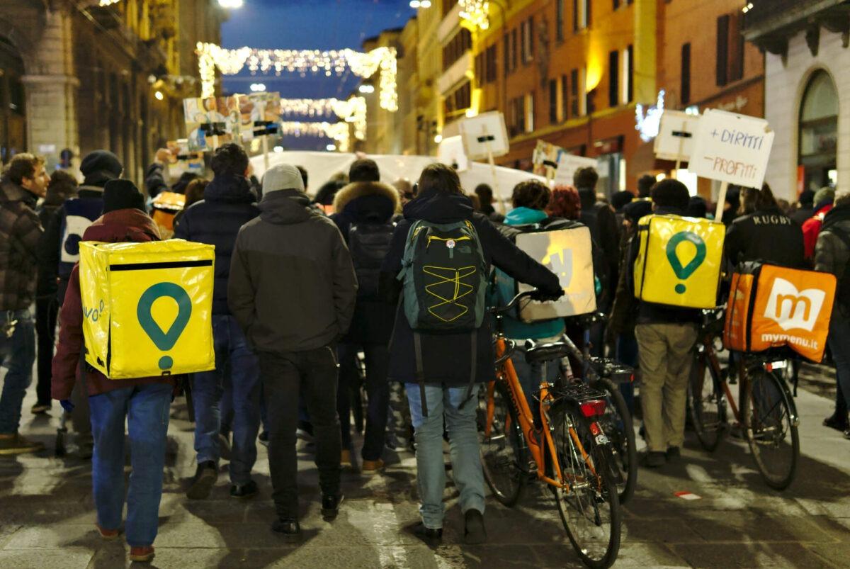 Protest platformskih radnika u Italiji