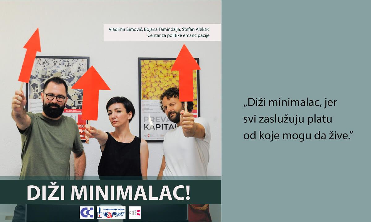 poster za kampanju Diži minimalac!