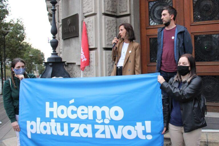 Protest Hoćemo platu za život