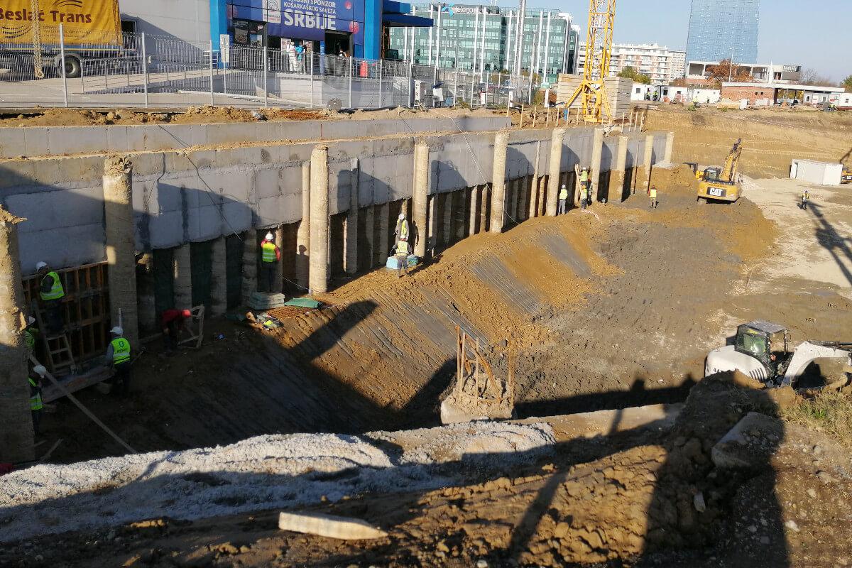 Jedno od gradilišta u Beogradu; Foto: Marko Miletić / Mašina