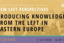 Webinar: Proizvodnja znanja na ljevici u Istočnoj Europi