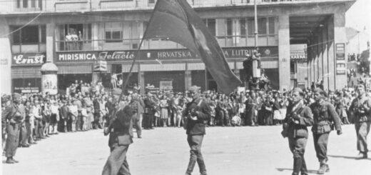 Zagreb, 9. maj 1945: defile boraca 1. proleterske divizije JA u oslobođenom gradu. (Foto: znaci.net)