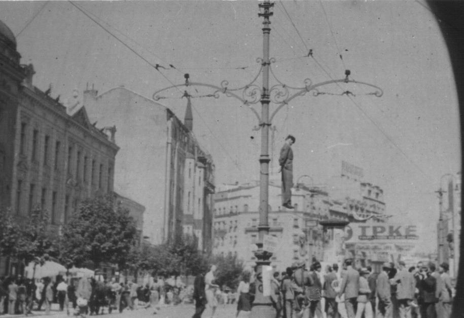 Vešanje u Beogradu, Terazije 17. avgust 1941; izvor: znaci.net