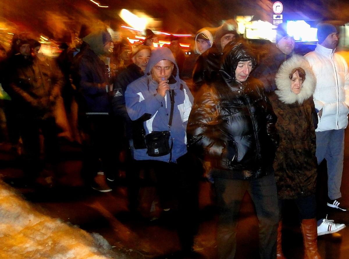 Protest građana Niša protiv visokih cena grejanja; foto: Bojana Tamindžija