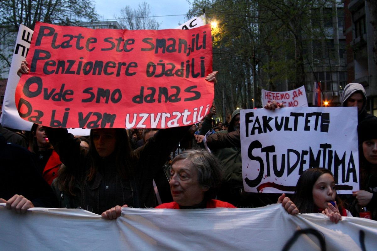 Protest u Beogradu. Foto: Marko Miletić