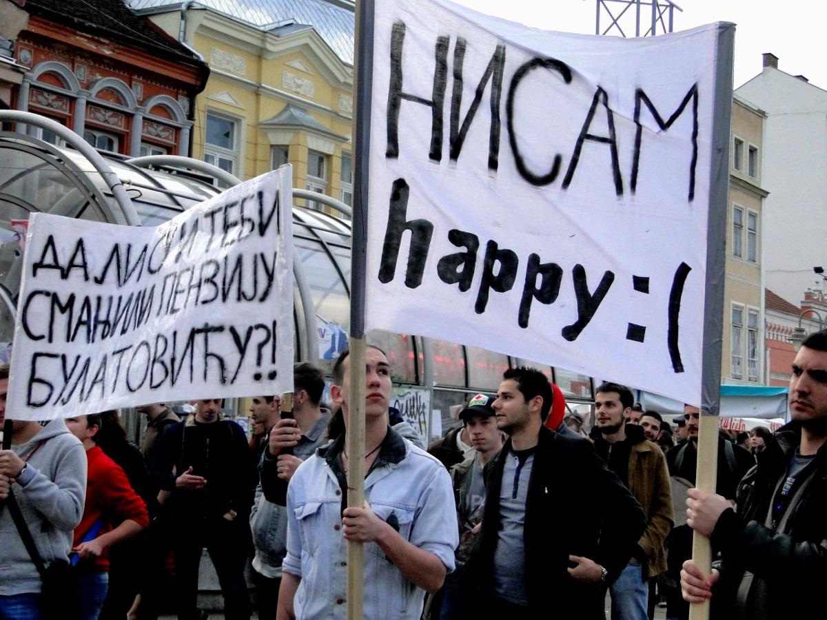 Protest u Nišu; Foto: Bojana Tamindžija