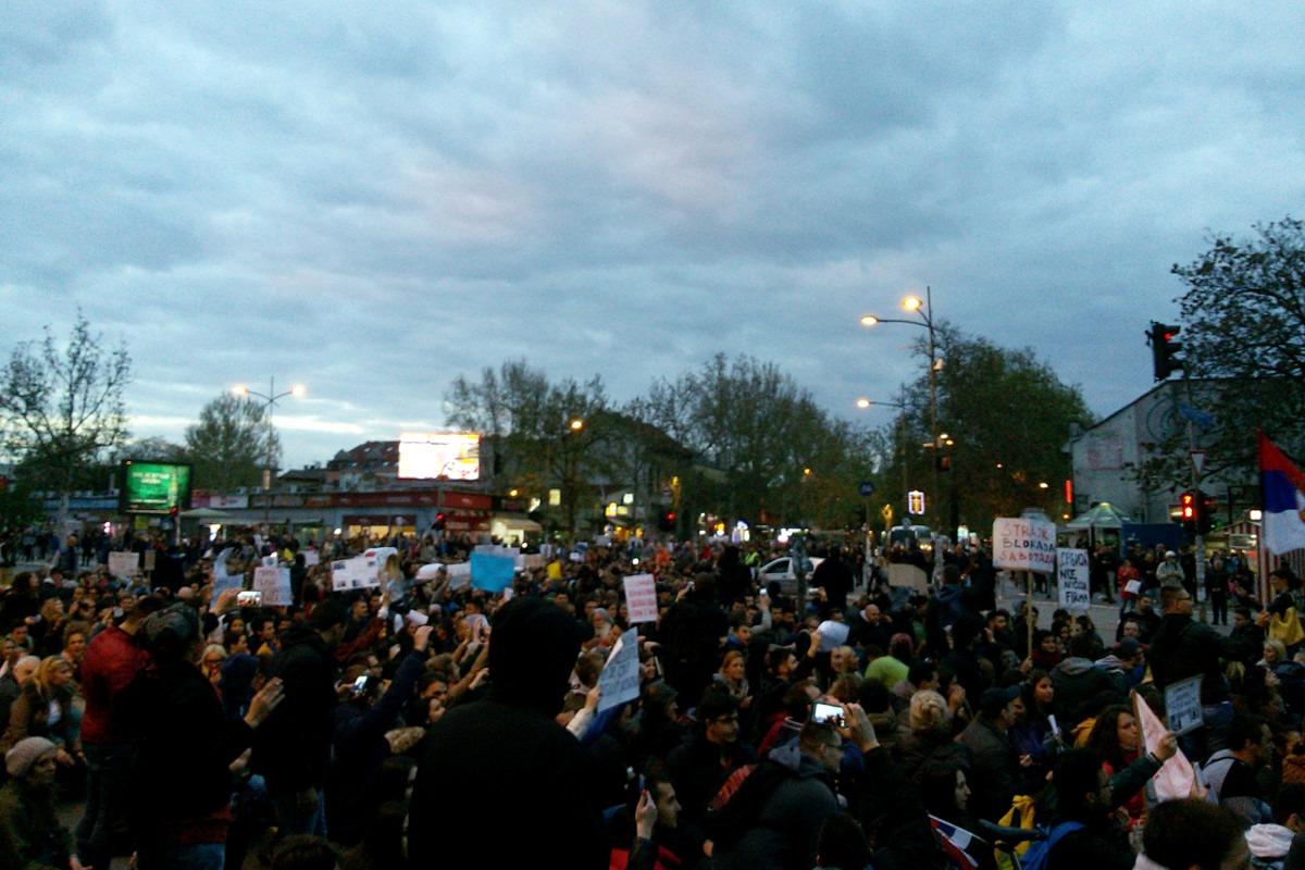 Protest u Novom Sadu. Foto: Anica Stojanović