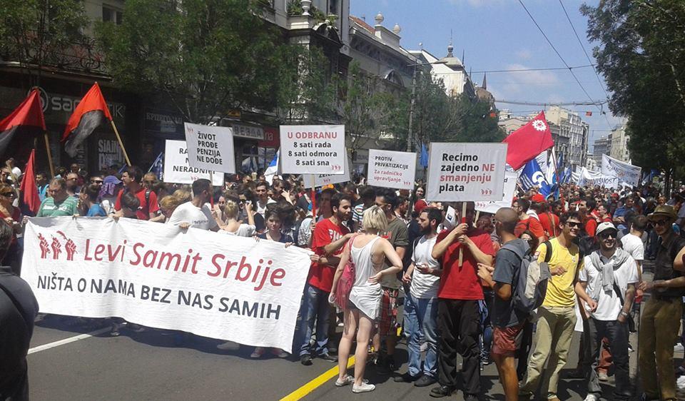 Veliki broj studenata je prisustvovao protestu protiv Zakona o radu