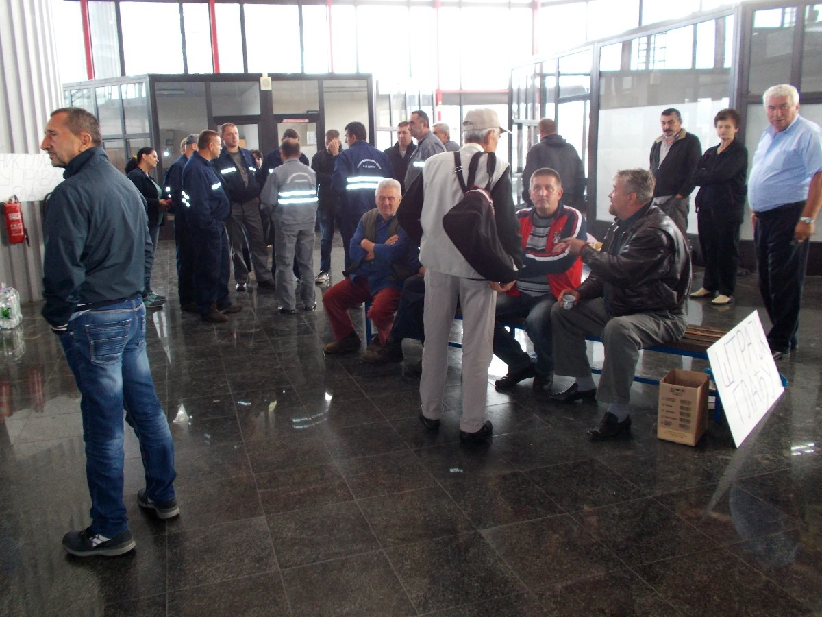 Štrajk radnika ŽRS-a; Foto: Gordana Katana