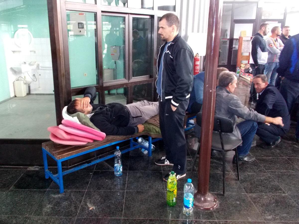Štrajk glađu radnika ŽRS-a; Foto: Gordana Katana