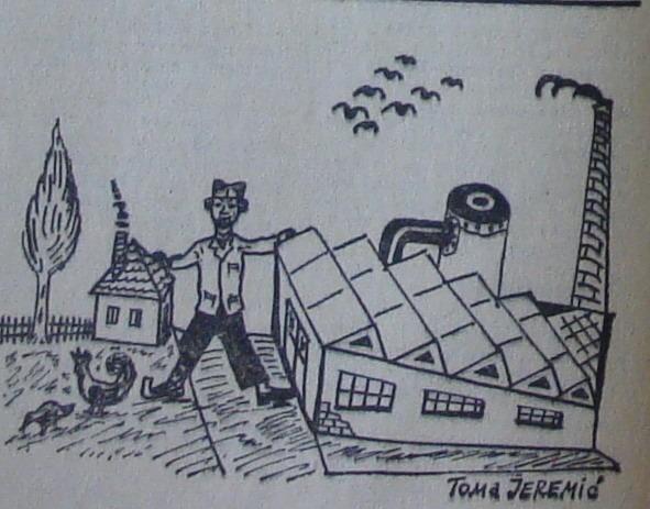Ilustracija iz jednih radničkih novina osamdesetih
