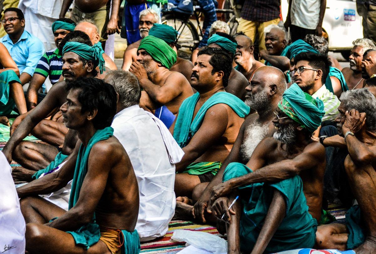 Protest farmera iz Tamil Nadua; Foto: Aditya Srinivasan Singh / Flickr
