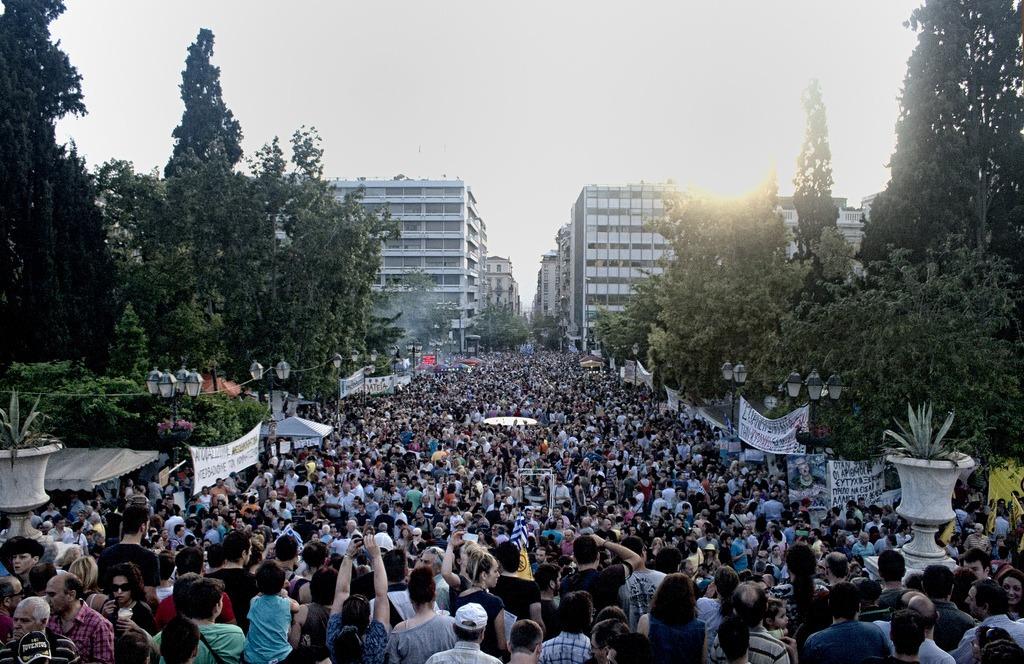 Protest protiv mera štednje na trgu Sintagma u Atini; Foto: George Ampartzidis / Flickr