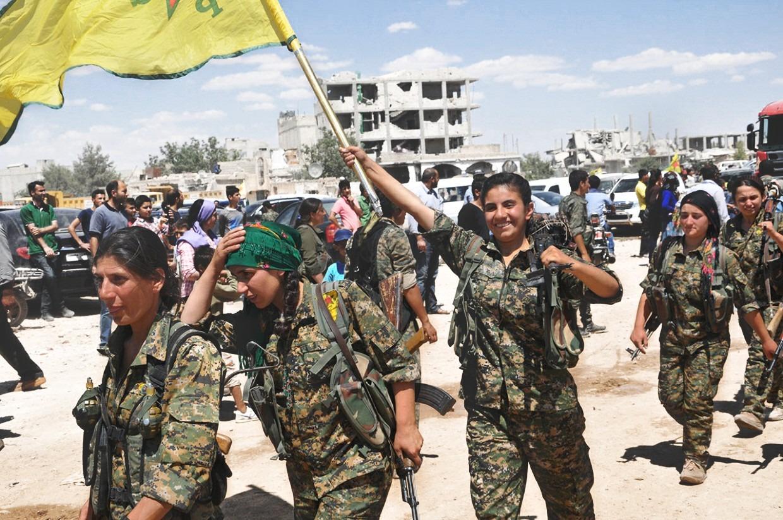 Kurdske borkinje (YPG); Izvor: Kurdishstruggle / Flickr