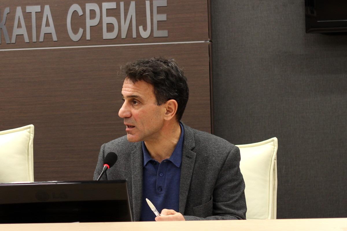 Kostas Lapavicas tokom predavanja u Beogradu; Foto: Miloš Miletić / KURS