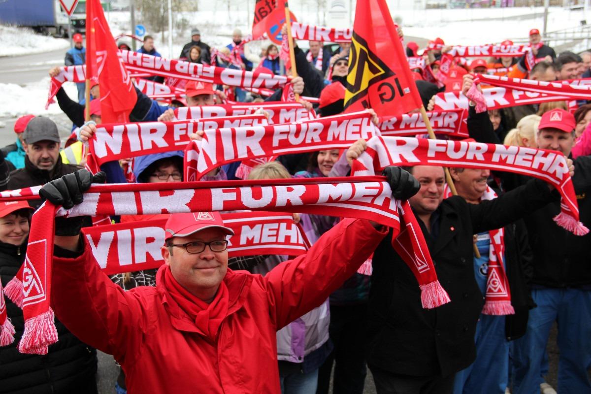 Protest radnika BMW-a; Foto: IG Metall Regensburg / Flickr