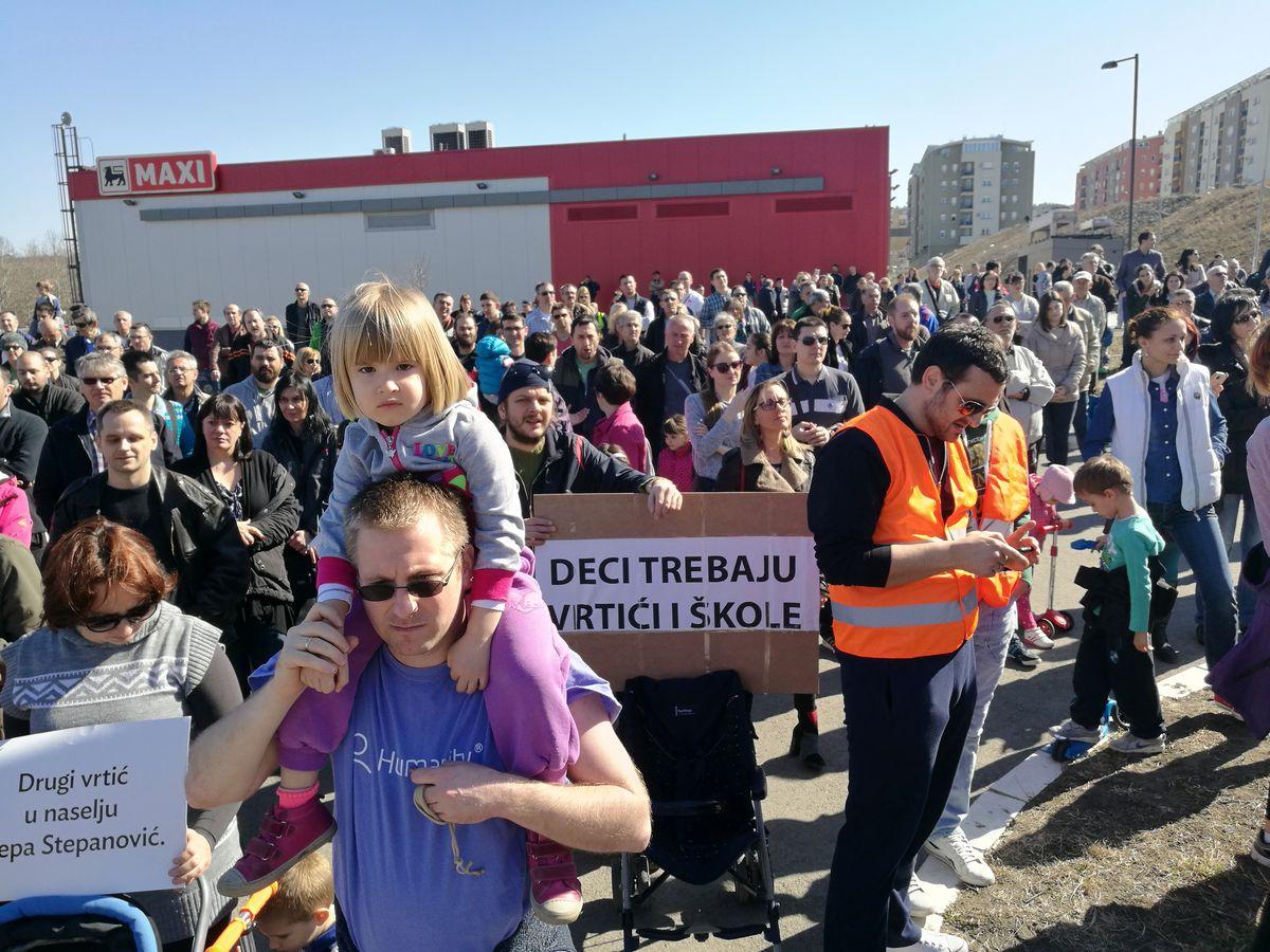 Protest u naselju Stepa Stepanović; Foto: Nenad Porobić / Mašina
