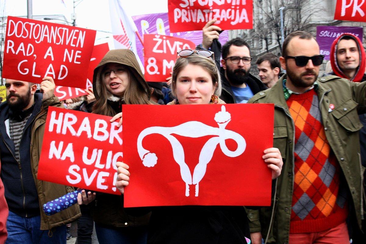 Osmomartovski protest u Beogradu 2017. godine; Foto: Marko Miletić / Mašina