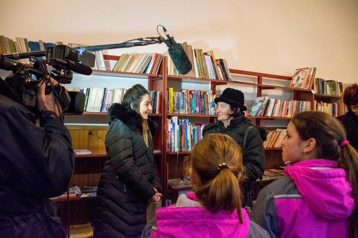Tokom jučerašnjeg protesta u biblioteci; Foto: Olivera Ralbovski-Križak / Facebook