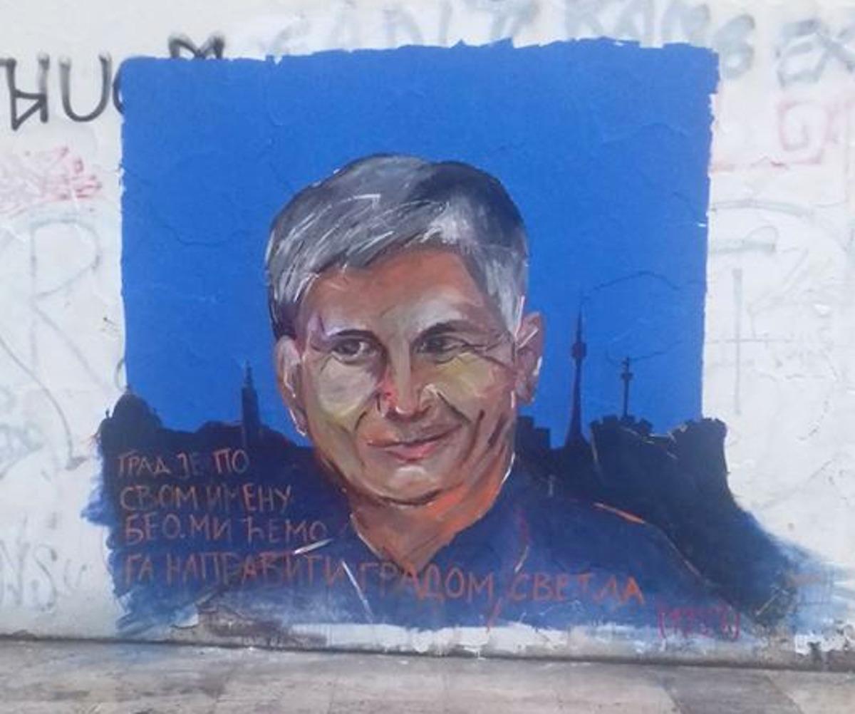 Mural ispred Filozofskog fakulteta u Beogradu; Foto: Dušan Ružanović / Facebook