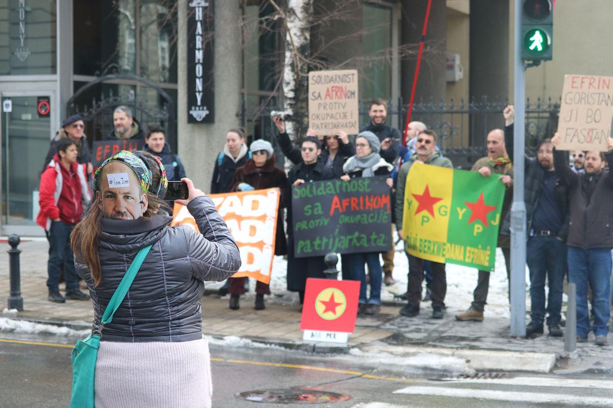 Skup podrške Afrinu u Beogradu; Foto: Ana Vuković / Mašina