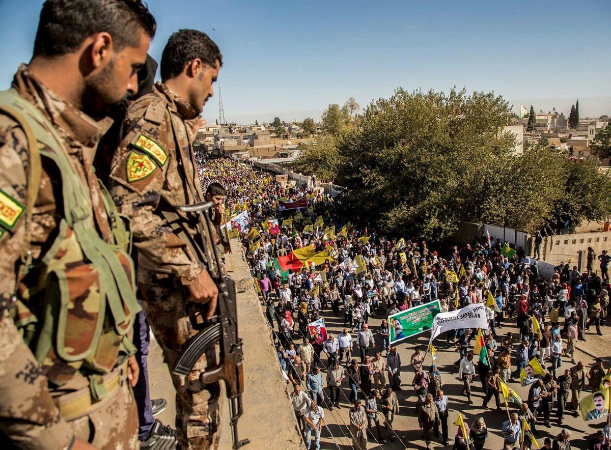 Protest protiv invazije Turske u Afrinu; Foto: Kurdishstruggle / Flickr