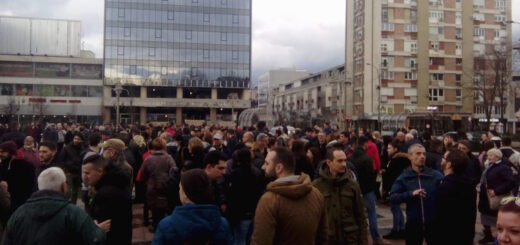 Protest u Nišu; Foto: Bojana Tamindžija / Mašina