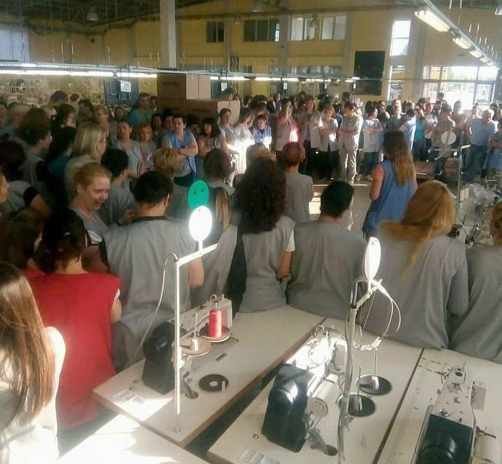 Štrajk radnica u Kajzenu; Izvor: podunavlje.info