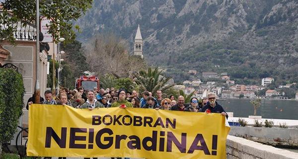 Protest u Dobroti; Izvor: Bokobran / Facebook