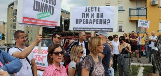 Protest u beogradskom naselju Stepa Stepanovič; foto: Mašina