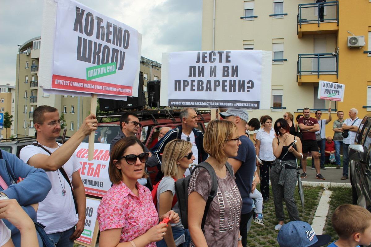 Protest u beogradskom naselju Stepa Stepanović; foto: Mirjana Dragosavljević / Mašina