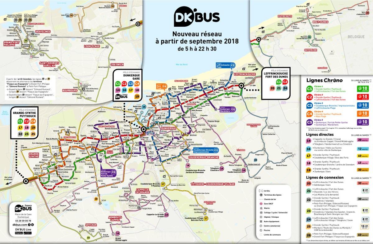 "Mapa buduće ""DK Bus"" mreže"