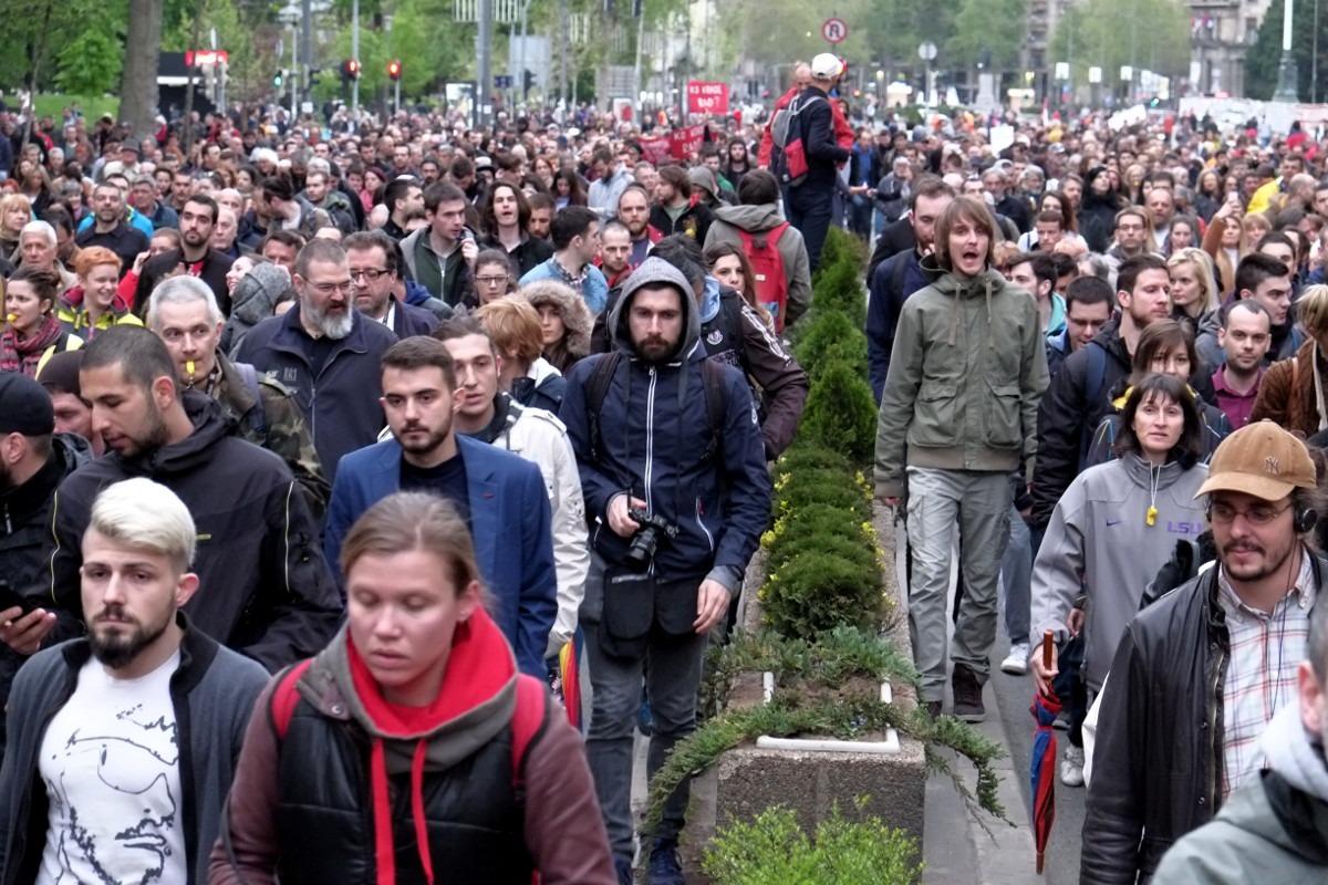 "Protest ""Protiv diktature"", 18. april, 2017; Foto: Matija Jovanović / Mašina"