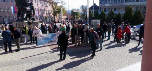 Protest u Babušnici; Foto: Saša Jeremić / Facebook